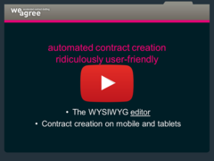Contract Automation Software Wysiwyg Editor