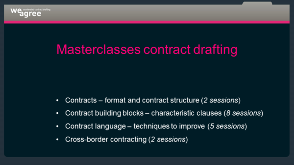 Masterclasses Contract Drafting